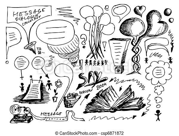 hand drawn dialog icons  - csp6871872