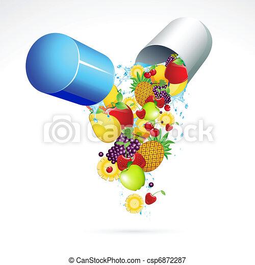 Vitamin Pill - csp6872287