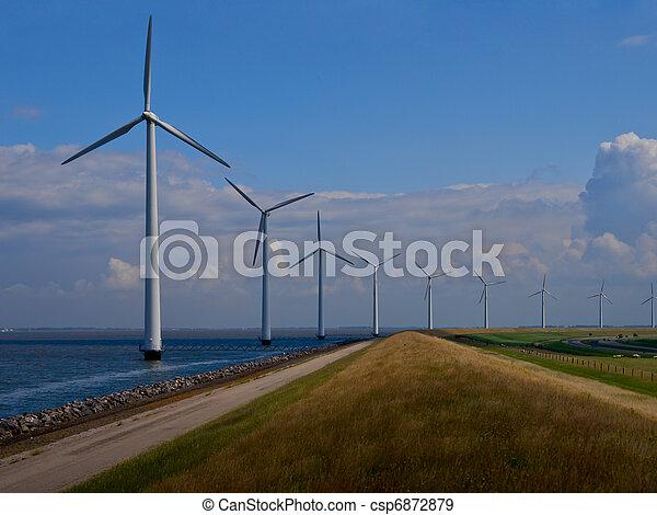 Dutch windfarm overview - csp6872879