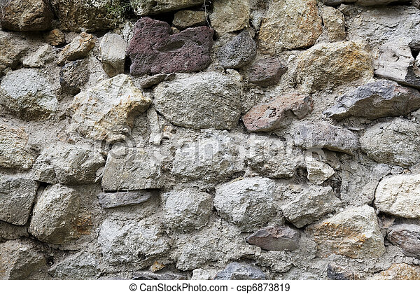 limestone lava brickwork texture - csp6873819