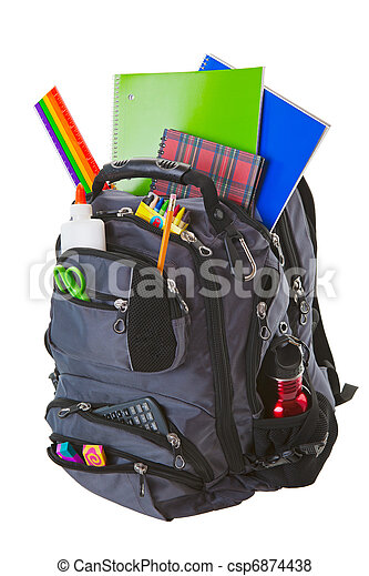 Backpack With School Supplies - csp6874438