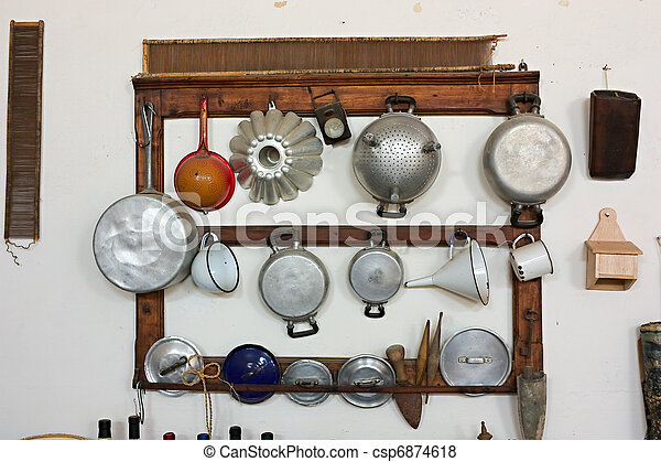 old cooking utensils - csp6874618