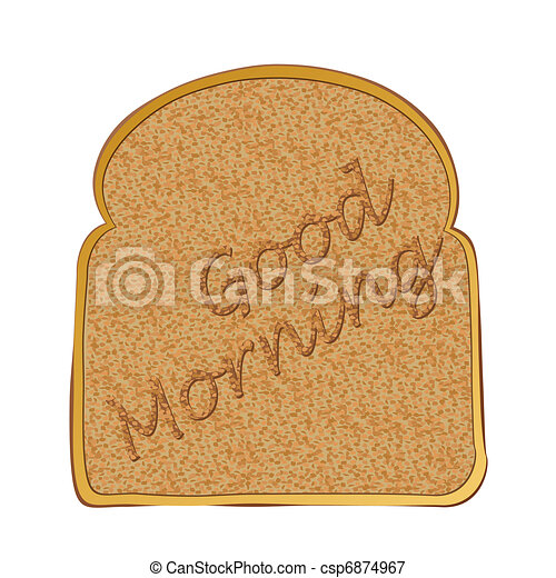 Slice of toast morning - csp6874967