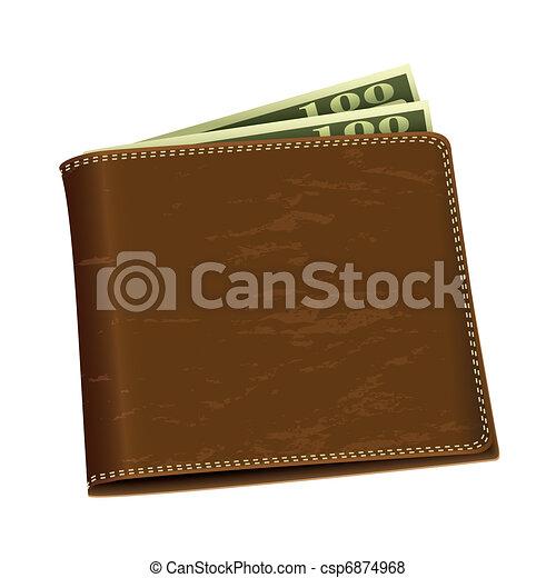Dollar money wallet - csp6874968