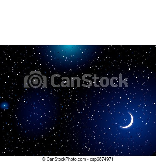 Space landscape moon - csp6874971