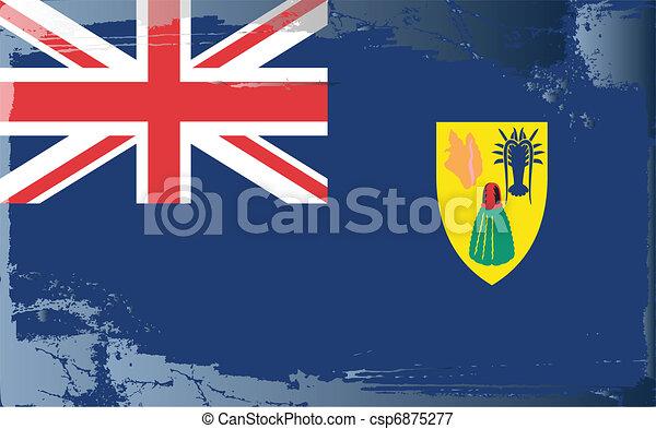 Grunge flag series-Turks&Caicos Isl - csp6875277