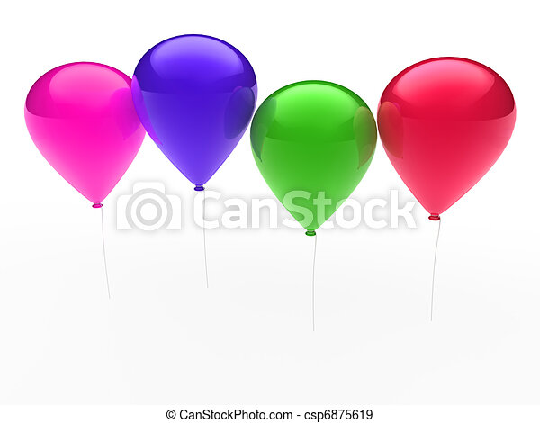 3d ballon colorful - csp6875619