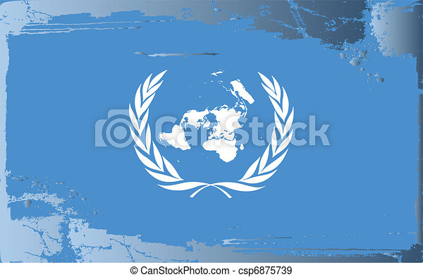 Grunge flag series-United Nations - csp6875739