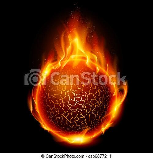 Fire ball - csp6877211