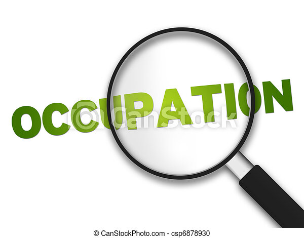 Magnifying Glass - Occupation - csp6878930