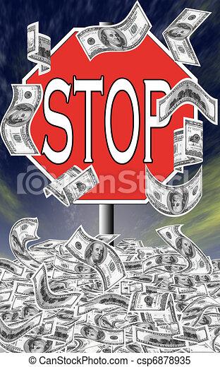 Stop deficit spending - csp6878935