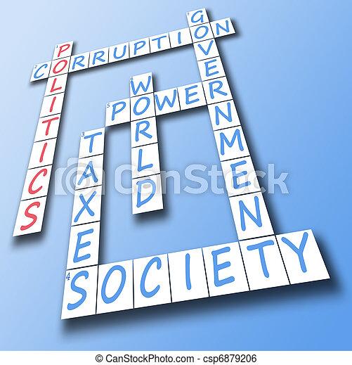Politics on crossword - csp6879206