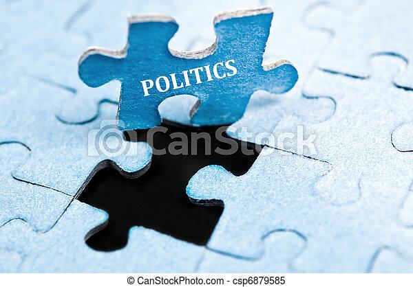 Politics puzzle - csp6879585