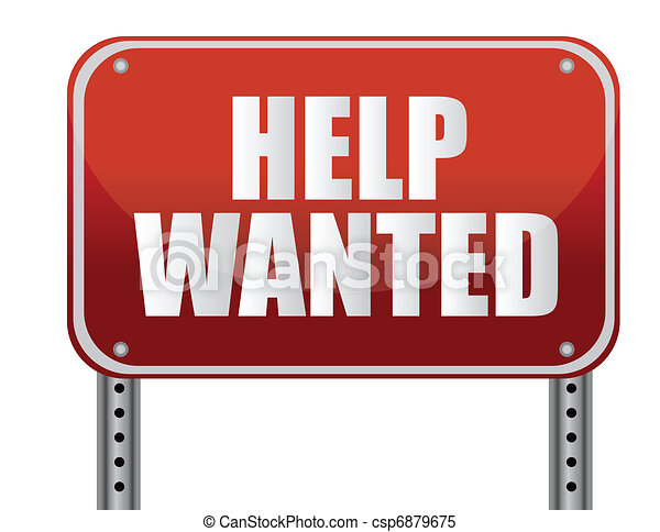 red help wanted sign illustration - csp6879675