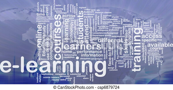 E-learning background concept - csp6879724