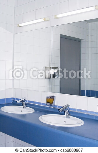 Modern interior of private restroom - csp6880967