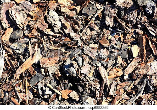 Leaf compost mulch pattern