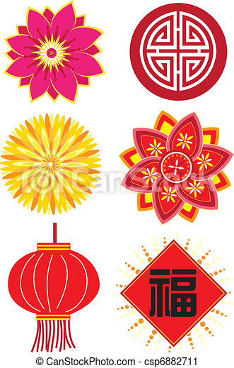 Chinese new year elements - csp6882711