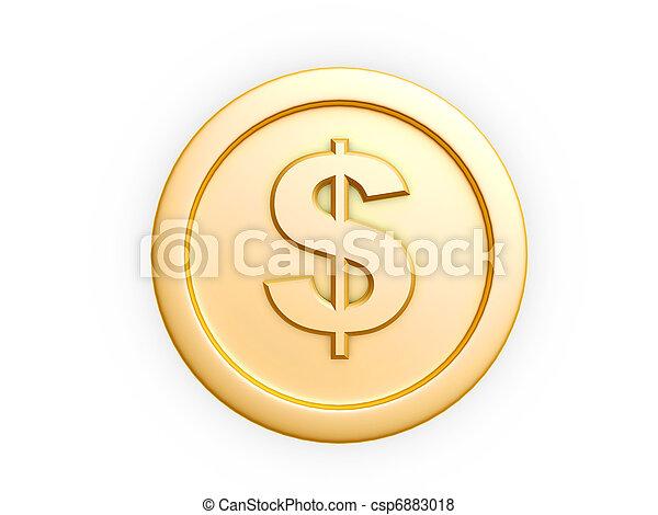 gold coin - csp6883018