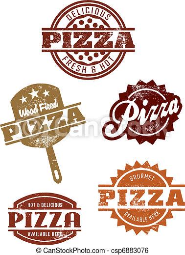 Gourmet Pizza Grpahics - csp6883076