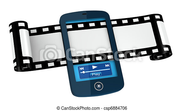 movies and photos on portable device - csp6884706