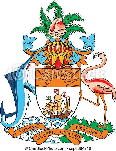 Coat of arms of Bahamas - csp6884719
