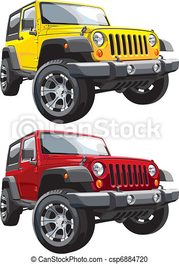 off-road jeep - csp6884720