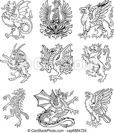 Heraldic monster vol II - csp6884724