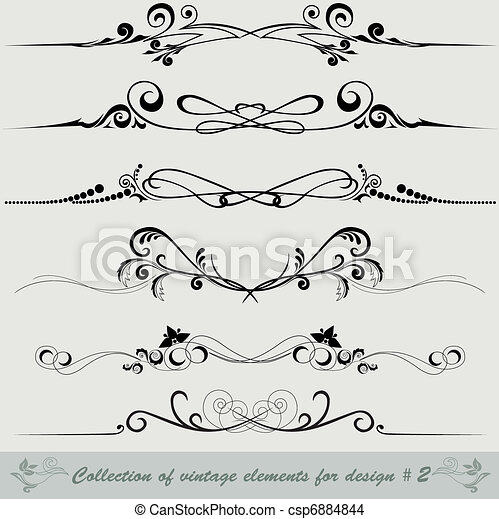 collection of vintage elements 2 - csp6884844