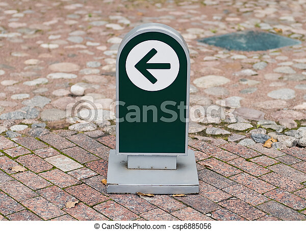 one way museum sign - csp6885056