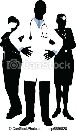 Medical team illustration - csp6885820