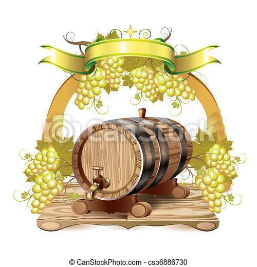 Wine barrel - csp6886730