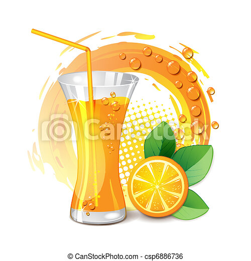 Orange Juice Glass Clipart Glass of Orange Juice