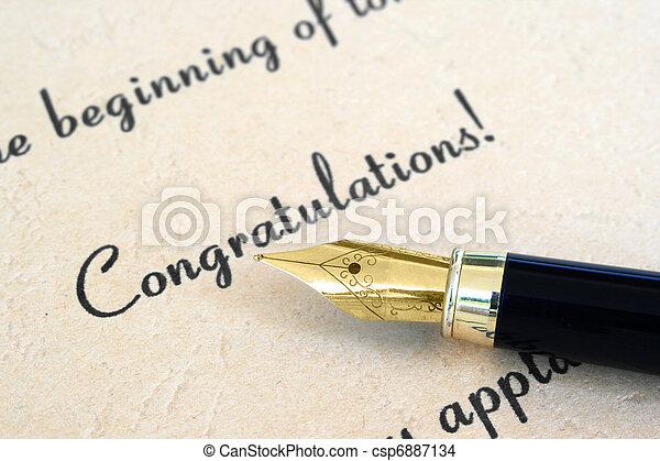 Congratulation  - csp6887134