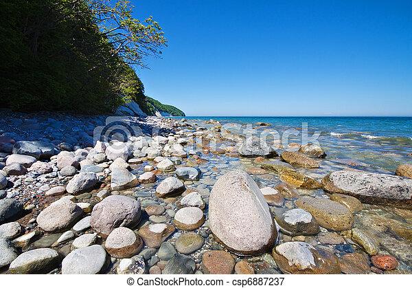 The Baltic Sea coast on the island Ruegen (Germany). - csp6887237