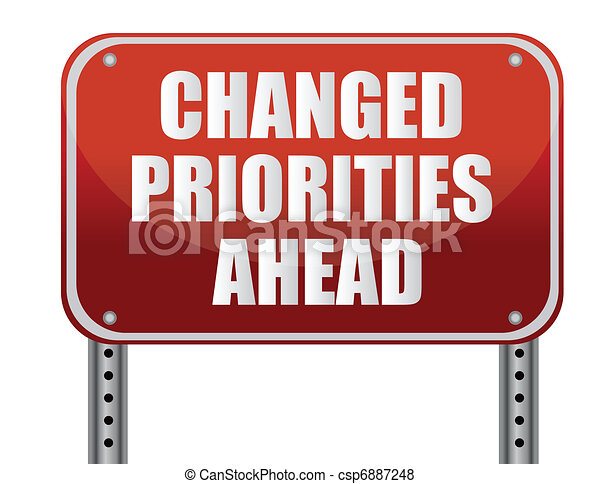changed priorities ahead - csp6887248