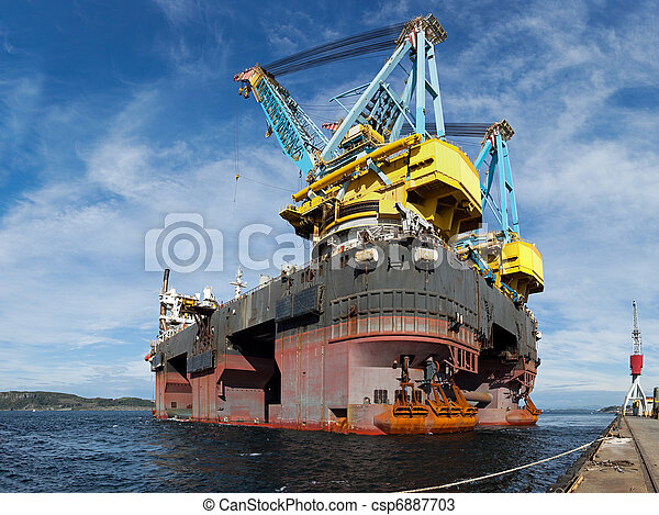 Floating crane vessel - csp6887703