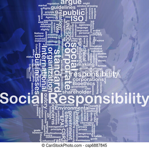 Social responsibility background concept - csp6887845
