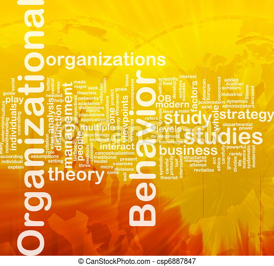 Organizational behavior background concept - csp6887847