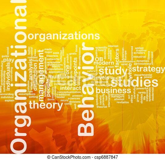 Organizational behavior background concept - csp6887847