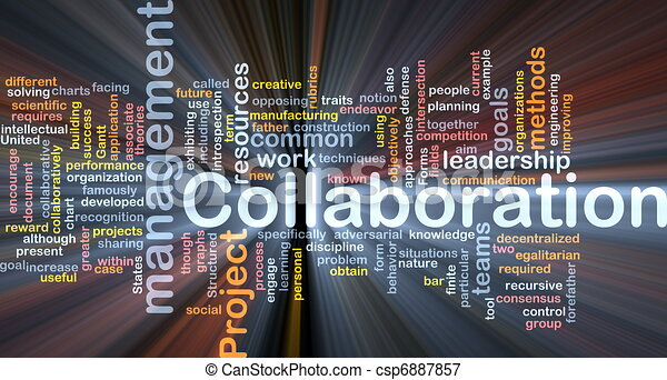 Collaboration management background concept glowing - csp6887857