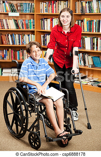 Disabled Kids at School - csp6888178