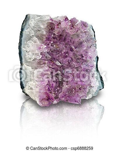 Amethyst geode slab isolated - csp6888259