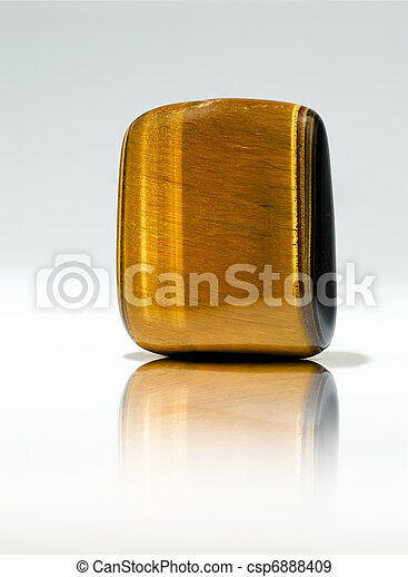 Tiger's eye gem - csp6888409
