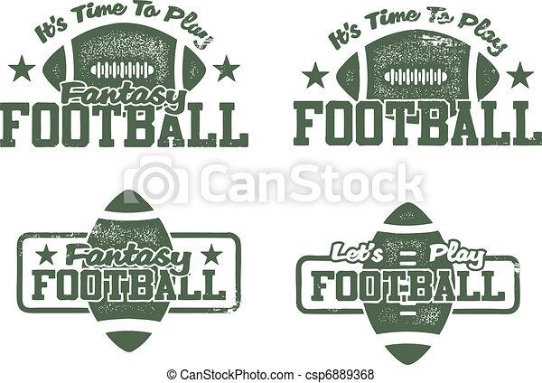 American Football & Fantasy stamps - csp6889368