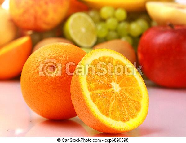 Ripe fresh fruit. Wholesome food. - csp6890598