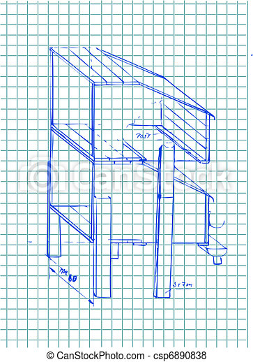hand drawn architecture details - csp6890838