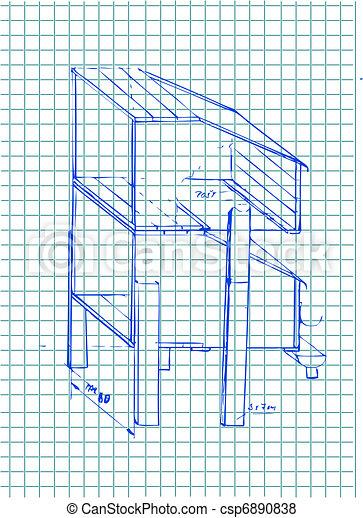 hand drawn architecture details - csp6890838