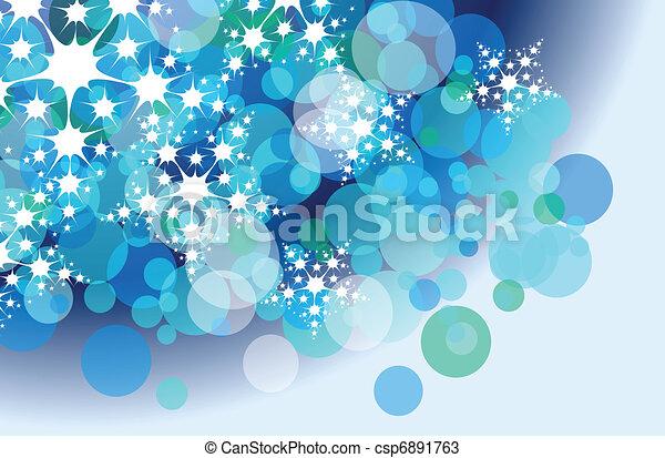 christmas snow flake background - csp6891763