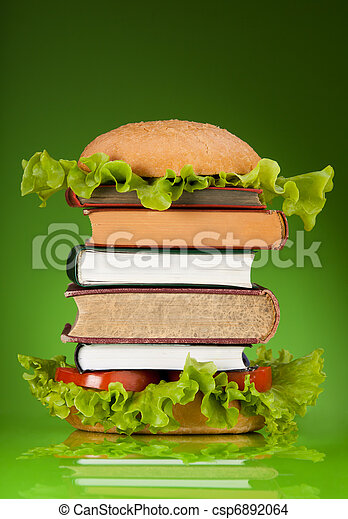 Knowledge fast food - csp6892064